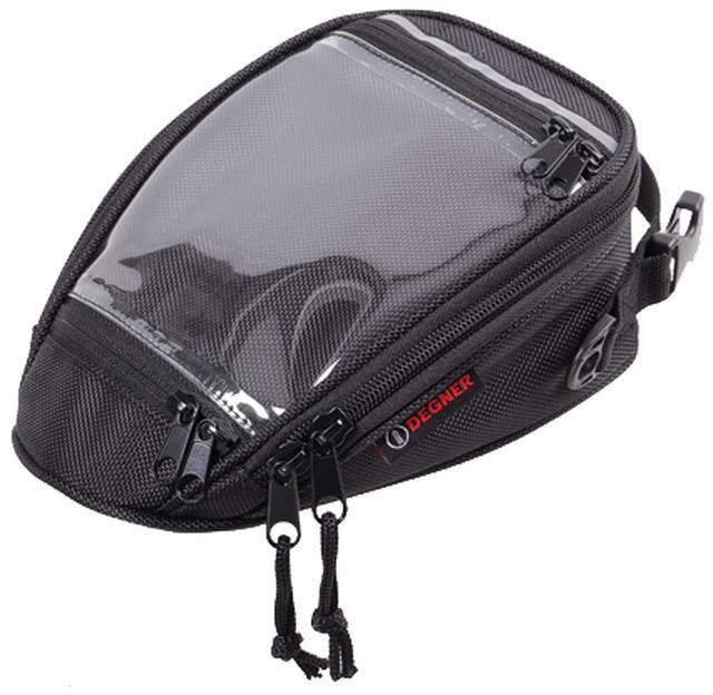 画像1: スマホホルダーと小物入れを兼ねるお手頃タンクバッグ