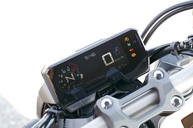 画像: コンパクトな反転表示の液晶メーターは個性的なデザイン。表示機能は多彩だ。