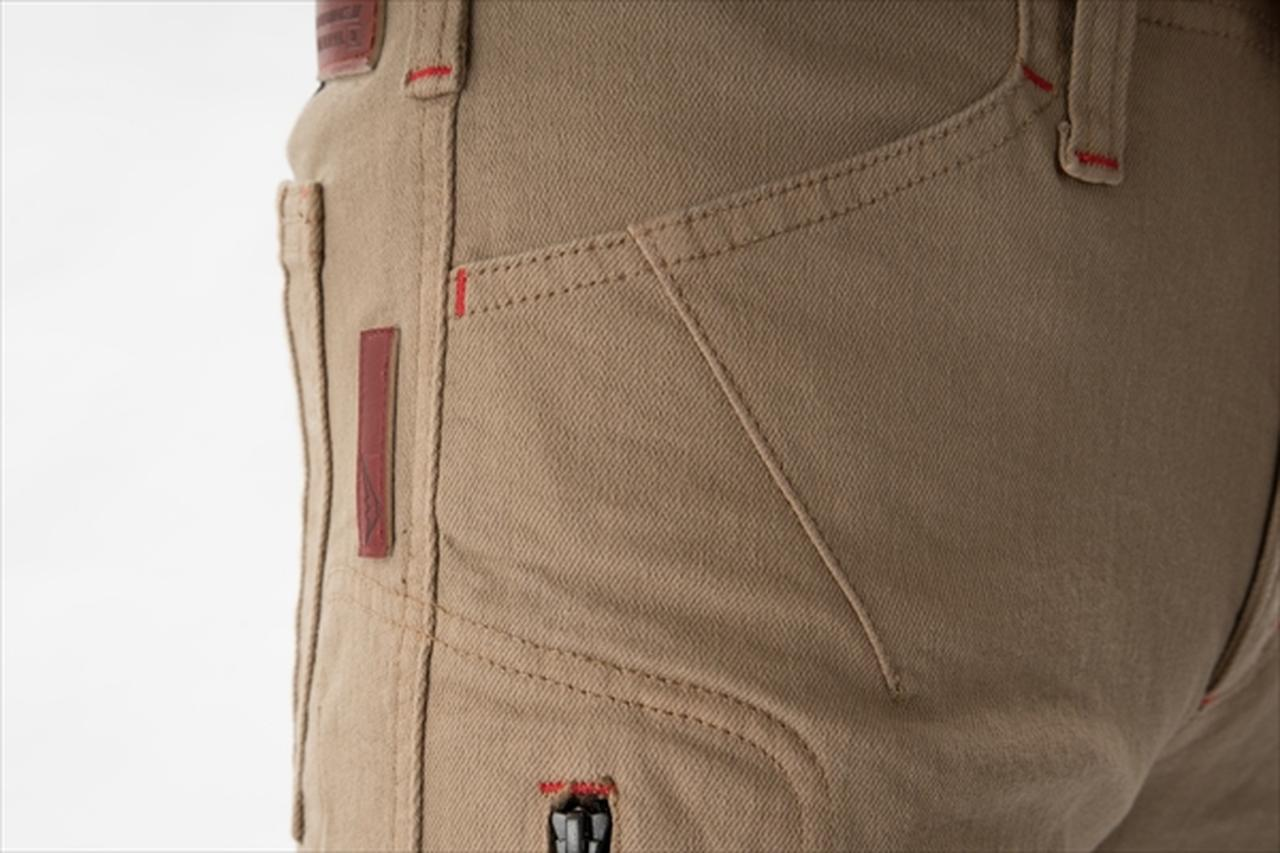 画像: 物を入れても突っ張りにくい立体構造のポケット