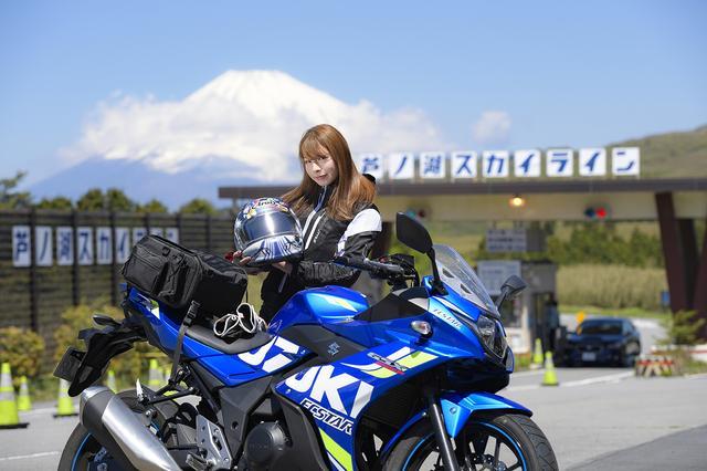 画像2: 葉月美優×SUZUKI GSX250R in 箱根【オートバイ女子部のフォトアルバム】
