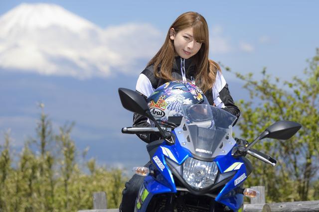 画像4: 葉月美優×SUZUKI GSX250R in 箱根【オートバイ女子部のフォトアルバム】