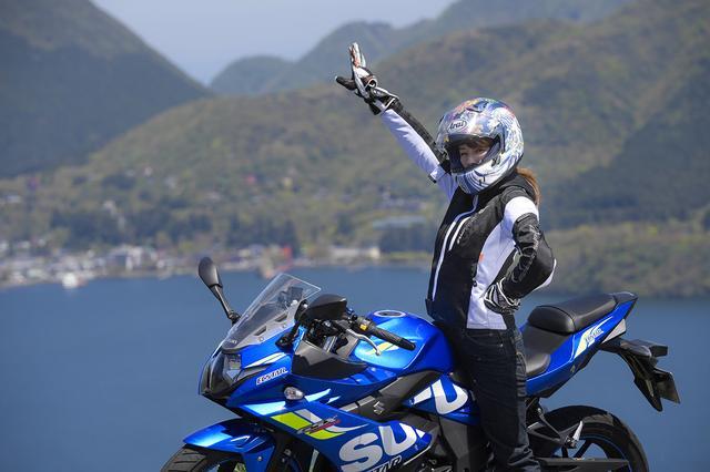 画像6: 葉月美優×SUZUKI GSX250R in 箱根【オートバイ女子部のフォトアルバム】