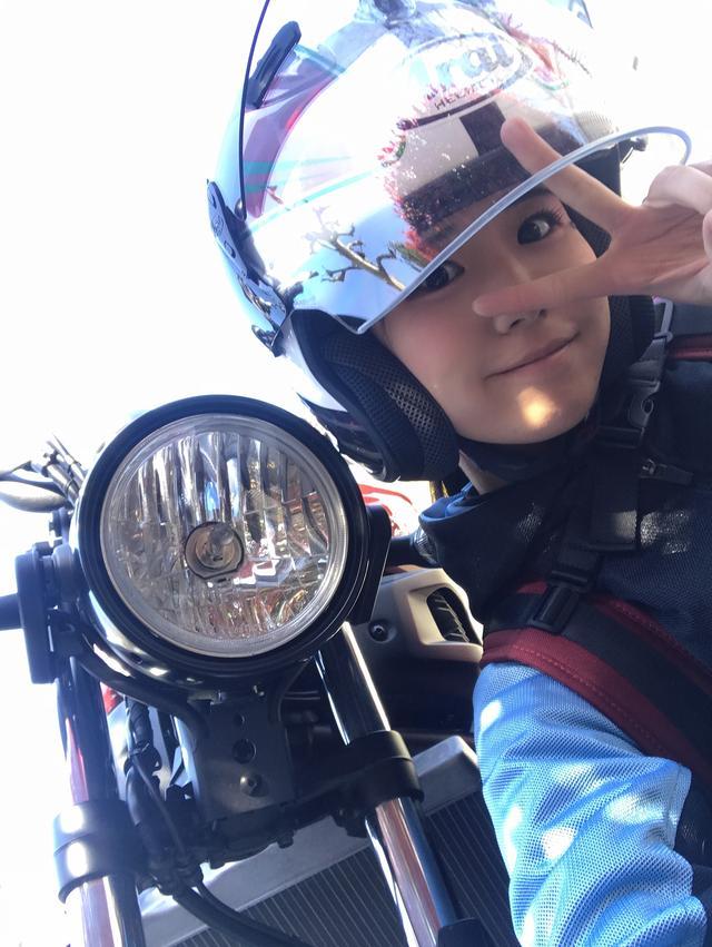 画像7: 私はバイクに乗る時は必ずリュックを使っています!