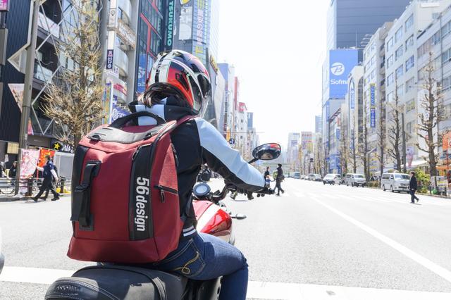 画像6: 私はバイクに乗る時は必ずリュックを使っています!