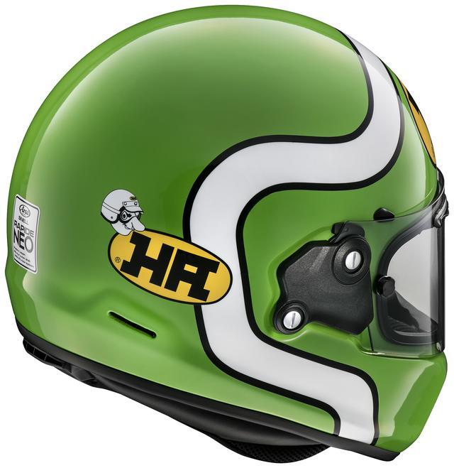 画像4: HAロゴがリデザインされ復活! 古き良きフォルムとグラフィックも合わさった、まさにこれぞネオクラシック・ヘルメット!