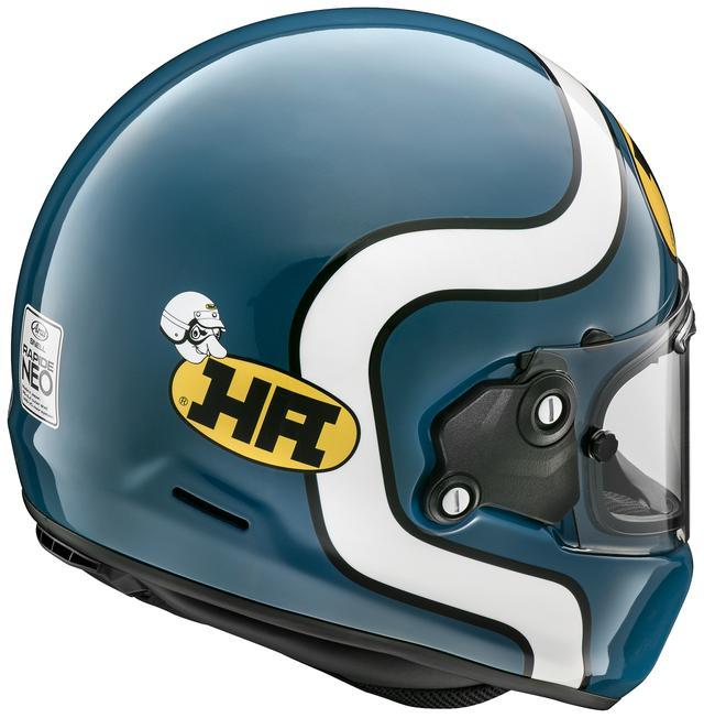 画像3: HAロゴがリデザインされ復活! 古き良きフォルムとグラフィックも合わさった、まさにこれぞネオクラシック・ヘルメット!