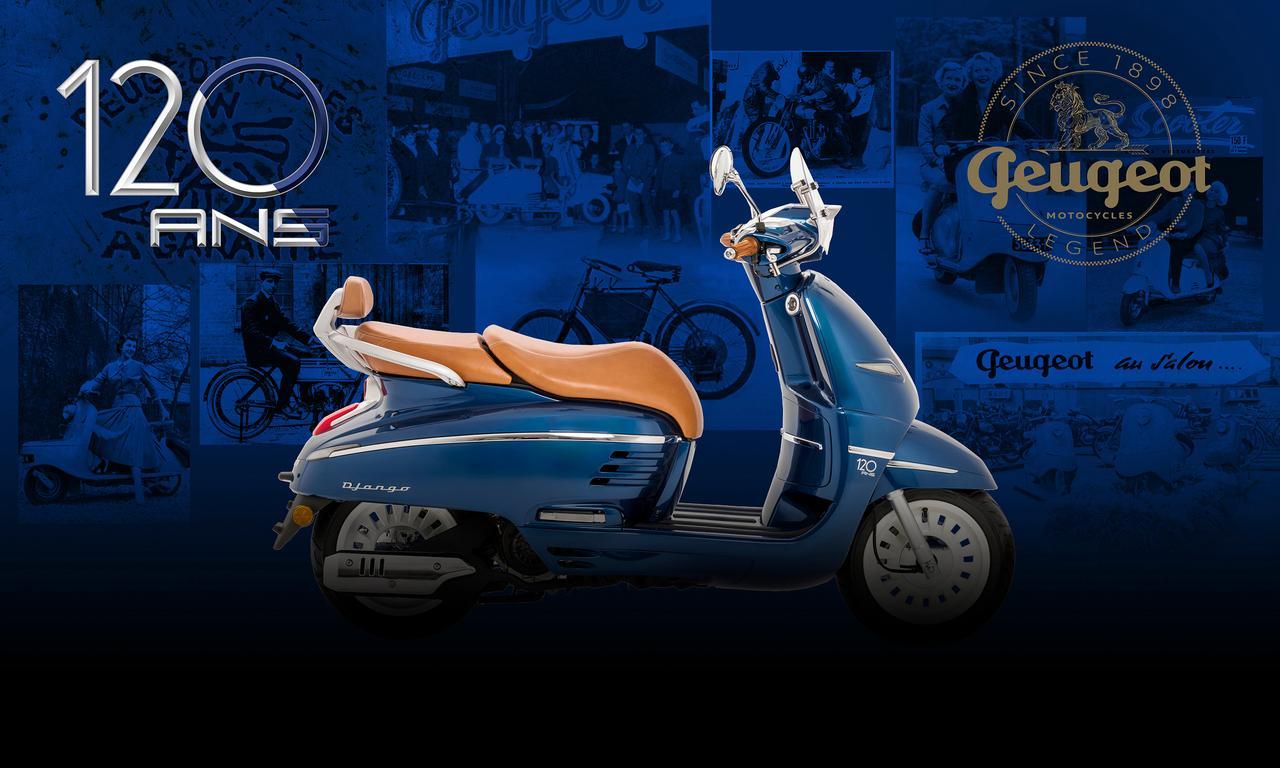 プジョーの120周年記念車に150ccが追加! わずか30台限定の激レア・バイク「ジャンゴ150 ABS 120th
