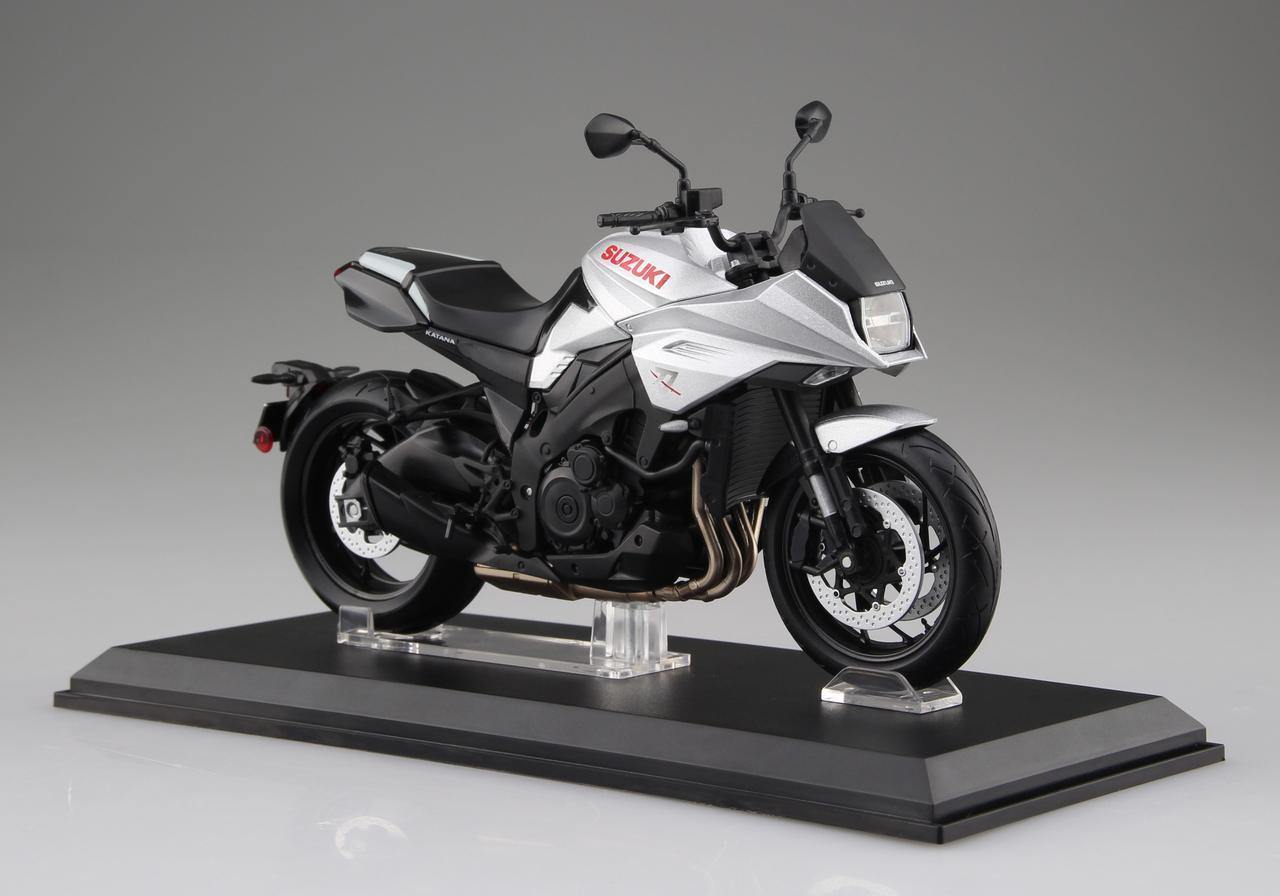 「1/12 完成品バイク」シリーズに、早くも新型「KATANA」登場! 予定価格(税別)は2700円!
