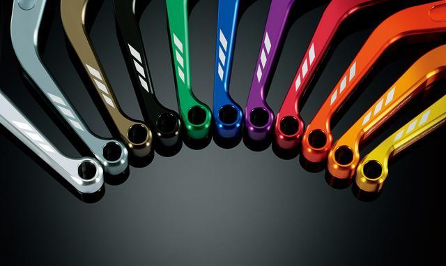 画像: カラー名は左からシルバー、グレー、チタン、ブラック、グリーン、ブルー、パープル、レッド、オレンジ、オレンジゴールド、ライトゴールド