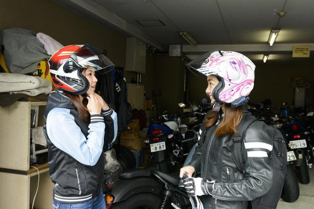 画像1: 集合場所のオートバイ編集部へ。