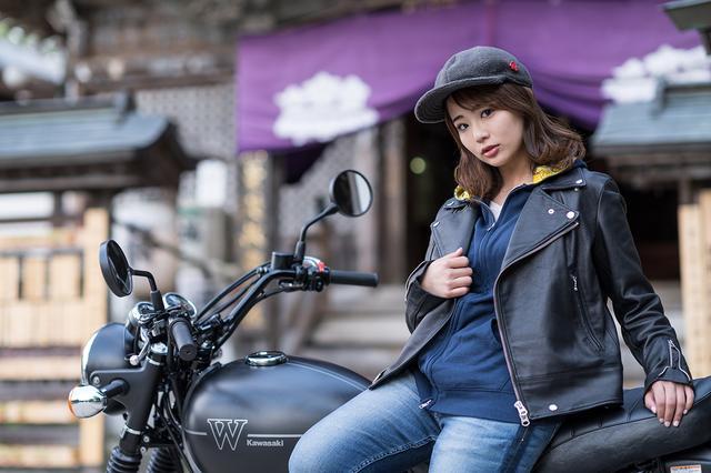 画像2: 平嶋夏海×KAWASAKI W800 STREET【オートバイ女子部のフォトアルバム】