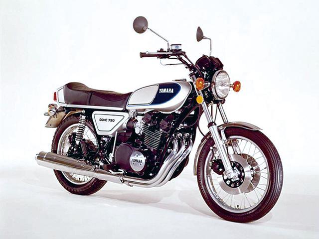 画像: GX750 1976年 [エンジン形式]空冷4ストDOHC2バルブ並列3気筒 [排気量]747㏄ [最高出力]60PS/7500rpm [最大トルク]6.6㎏-m/7500rpm [車両重量]229㎏ [シート高]825㎜ [燃料タンク容量]17L タイヤサイズ 前・後]3.25-19・4.00-18  [発売当時価格]48万9000円