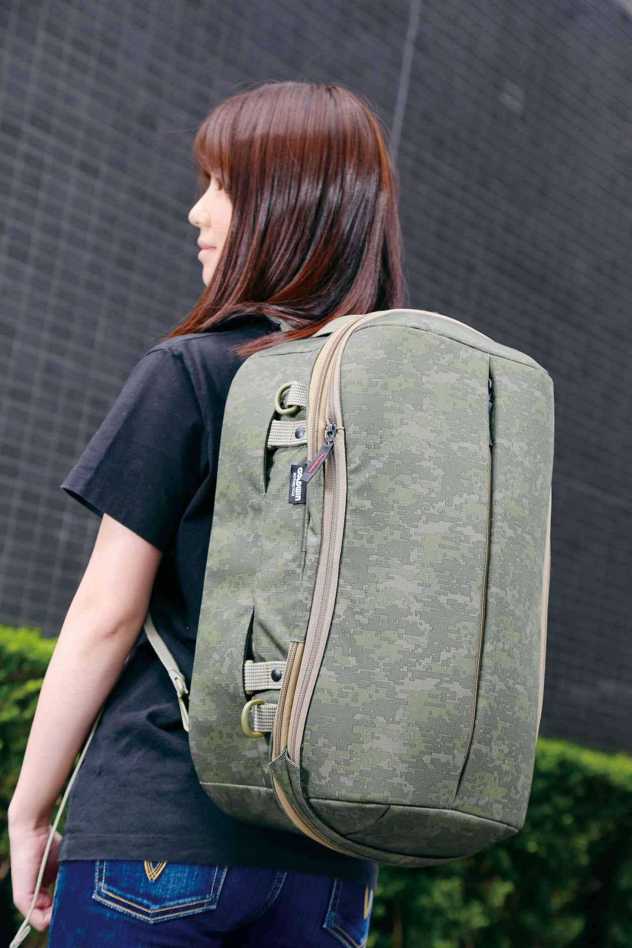 Images : 3番目の画像 - 「シンプルデザインの背負えるシートバッグ!『GOLDWIN GWM X-OVER リアバッグ39』」のアルバム - webオートバイ
