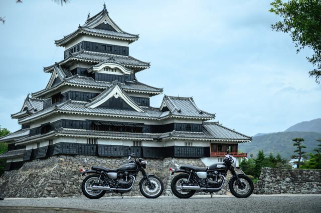 画像: 松本城にて