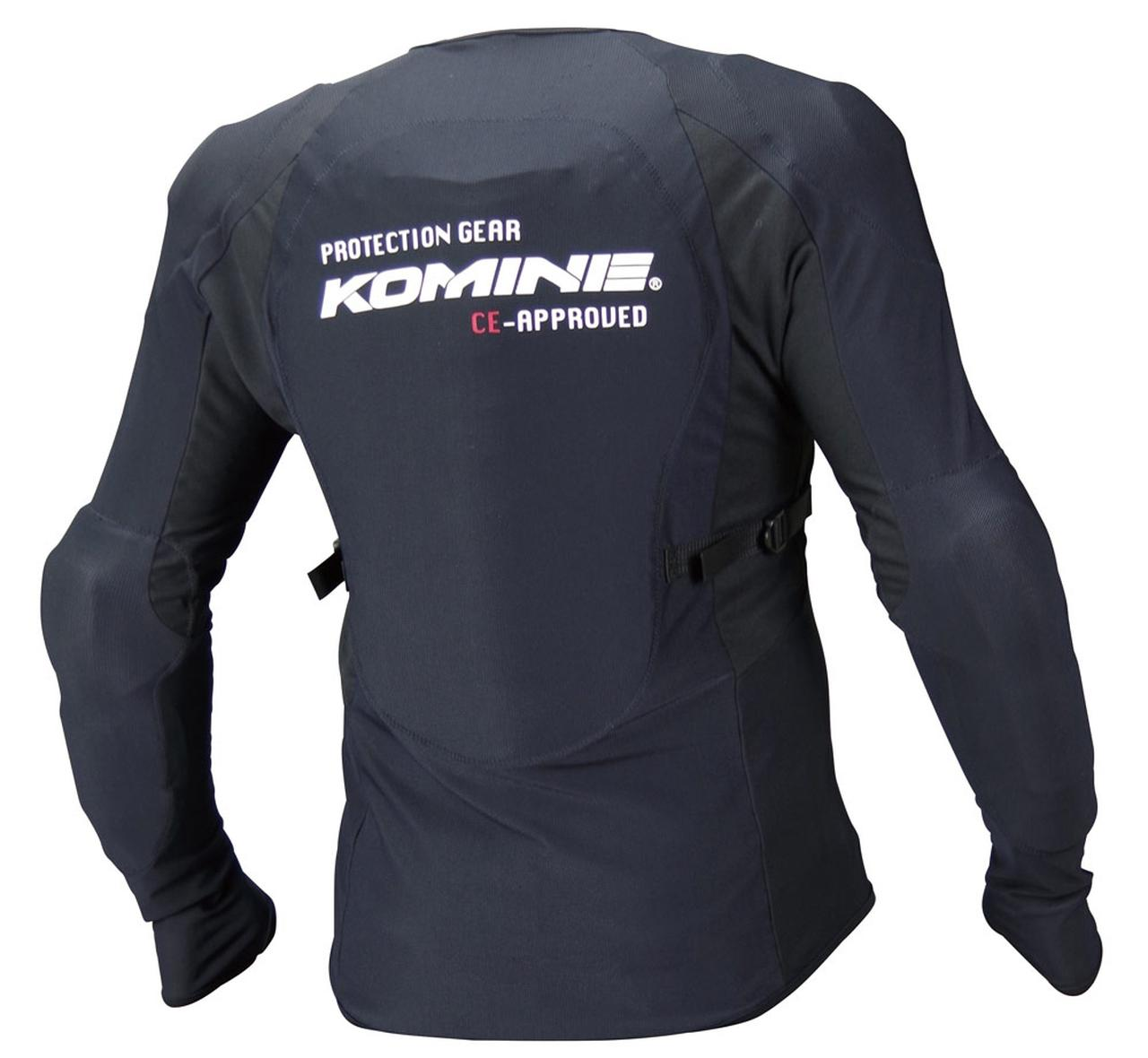 画像: バイク用以外のジャケットを着るときに心強い、肩・肘・背中・胸部に備わるハードプロテクター