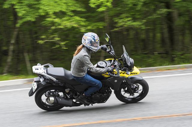 画像3: 葉月美優×SUZUKI V-Strom250 ABS【オートバイ女子部のフォトアルバム】