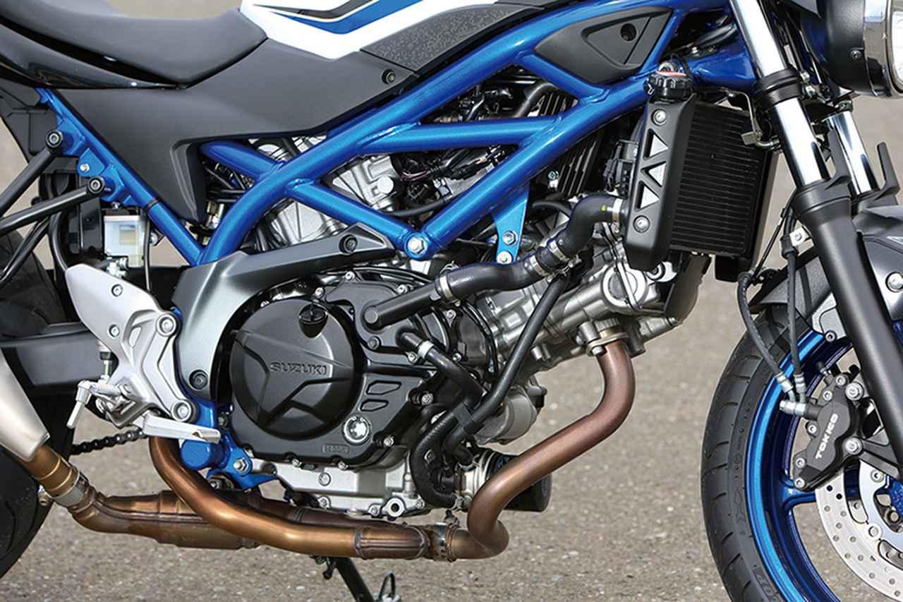 画像: Vストローム650にも採用されている、トルキーな伝統のVツインエンジンは76・1PS。フラットなパワー特性で扱いやすさはピカイチ。