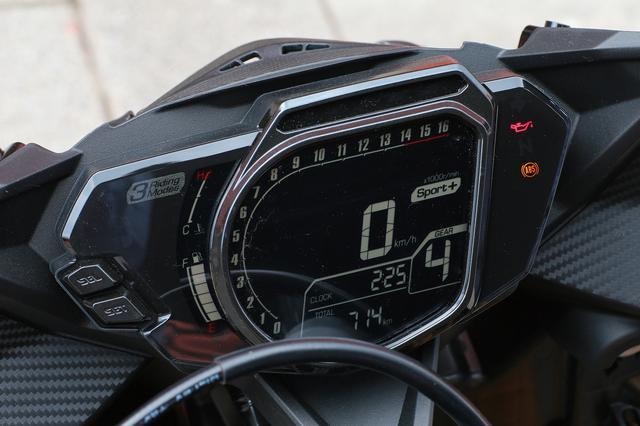 画像: ●LEDヘッドライト ●パワーモード ●シフトインジケーター ●ギアポジション表示 ●ラップタイマー ●スリッパークラッチ ●ツイントリップ ●ハザードランプ ●燃費計 ●時計