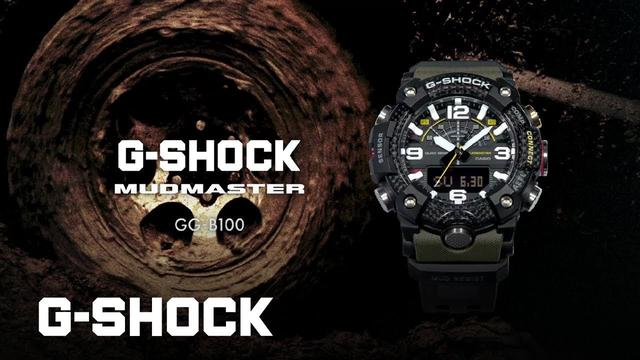 画像: MUDMASTER GG-B100 CARBON CORE GUARD : CASIO G-SHOCK youtu.be