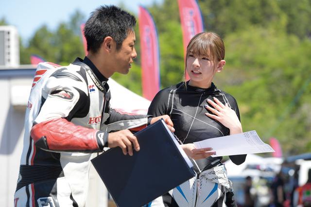 画像: NSF100/GROMクラスの初級クラスに入った葉月美優さんの担当は高橋裕紀選手!
