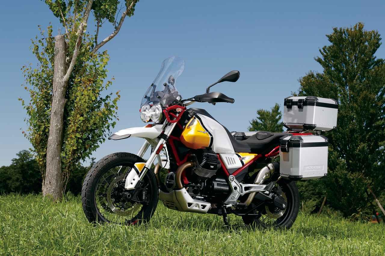 Images : 1番目の画像 - 「伝統の縦置きVツインが生み出すアドベンチャーの新境地!『MOTO GUZZI V85TT』(2019年) #試乗インプレ」のアルバム - webオートバイ