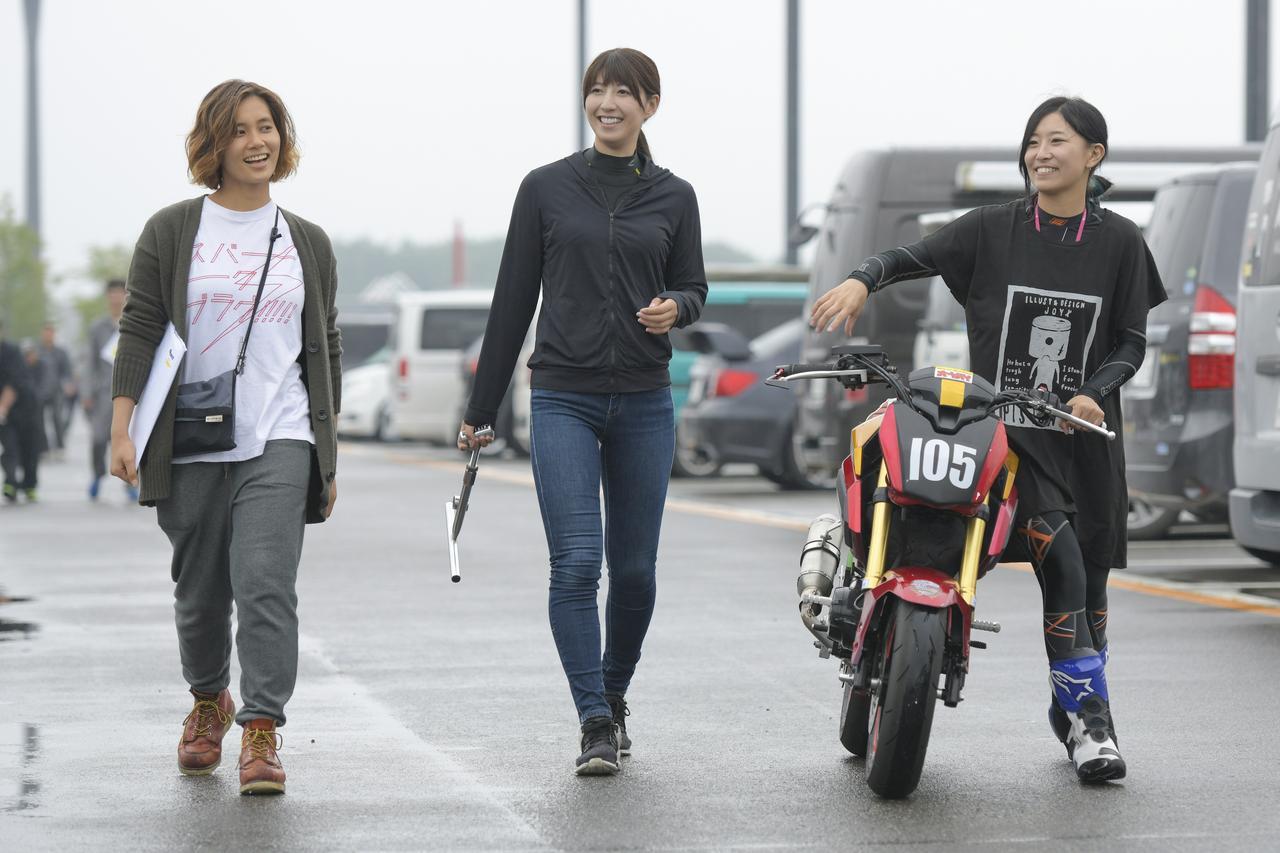 画像: 右から岡崎静夏、大関さおり、アルバート和恵