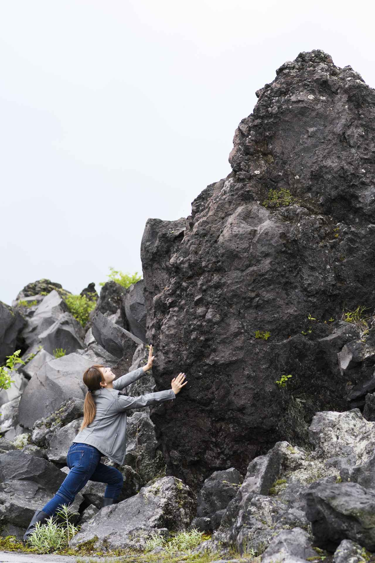 画像: さすが鬼押出し園! 押しがいがある岩もちゃんと見つかりました♡