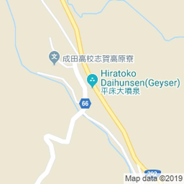 画像: 平床大噴泉 MAP