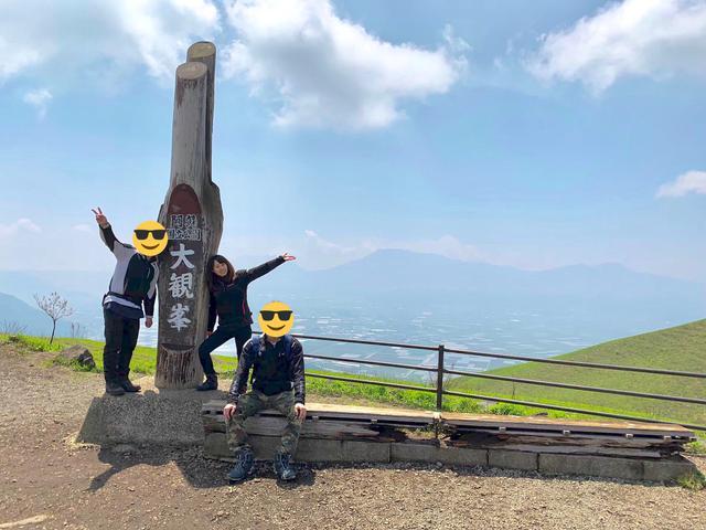 画像: 奥に見えるのが阿蘇山