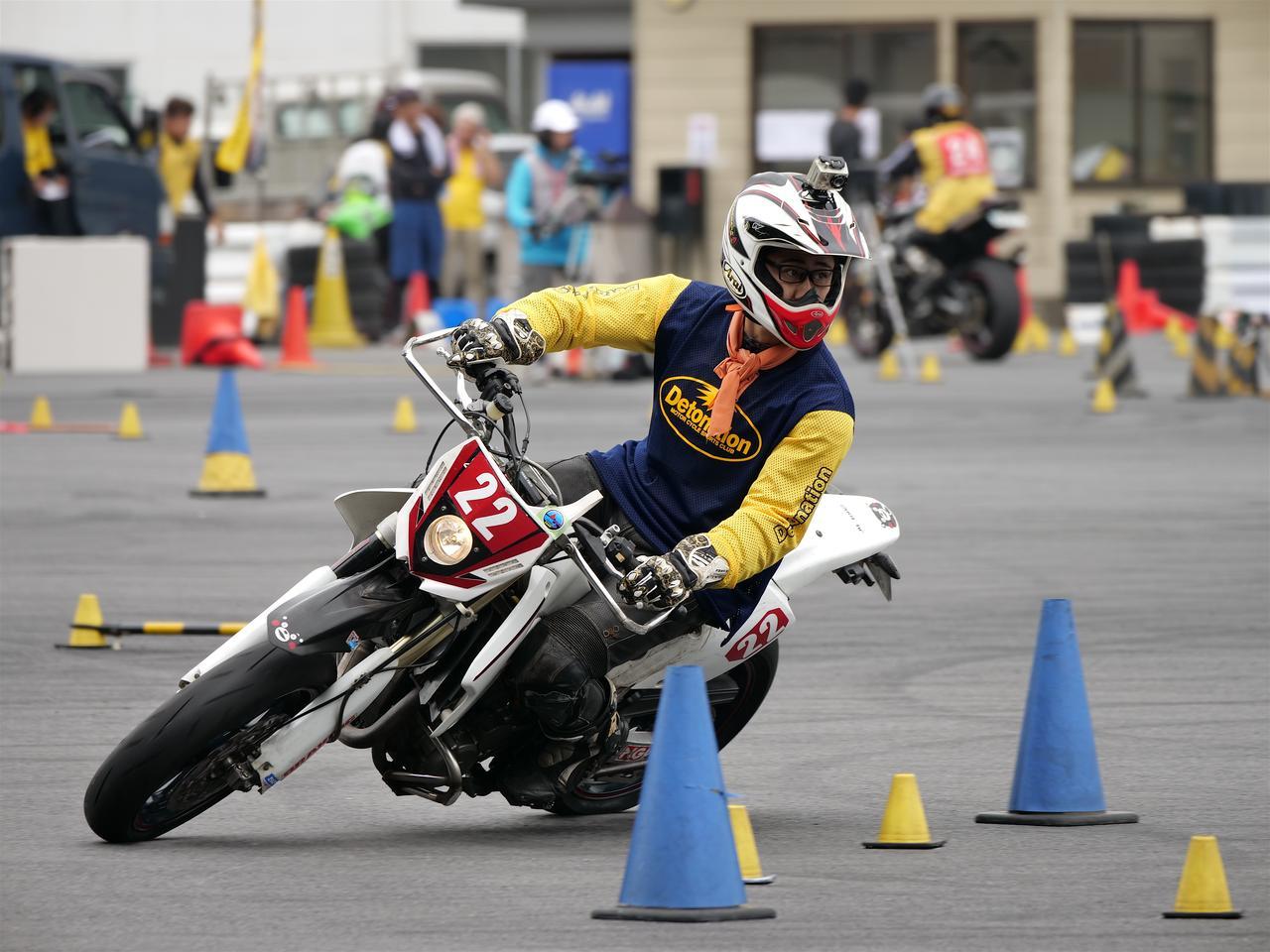 画像: A級3位・岡村拓哉選手&DR-Z400SM