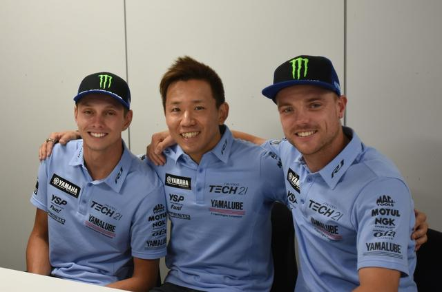 画像: まぁ、やっぱりこの3人の仲いいこと! TECH21シャツが着てて自然に見えてきました