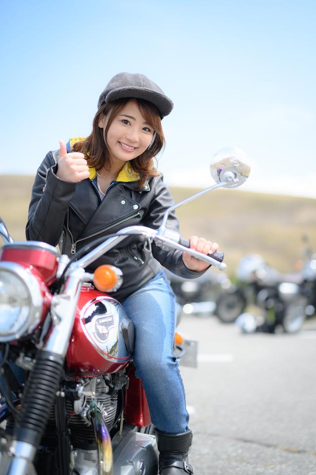 画像2: 平嶋夏海×KAWASAKI 650-W1【オートバイ女子部のフォトアルバム】