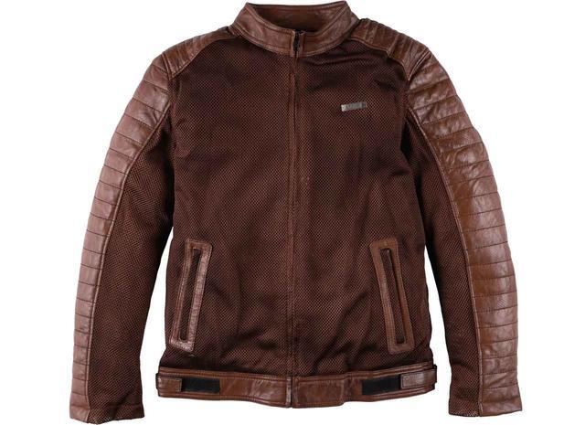 画像: おしゃれなメッシュジャケットをお探しの方、これはどう? 本革×メッシュのハイブリッドモデル RIDEZ「BRIDGE MESH JACKET」 - webオートバイ