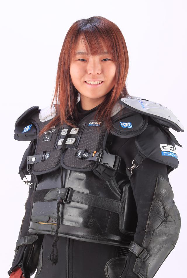 画像: 片野利沙 選手 LG:川口 32期 ランク:A-174 出身競技:ロードレース 備考(主な実績など):レディスロードレース出場