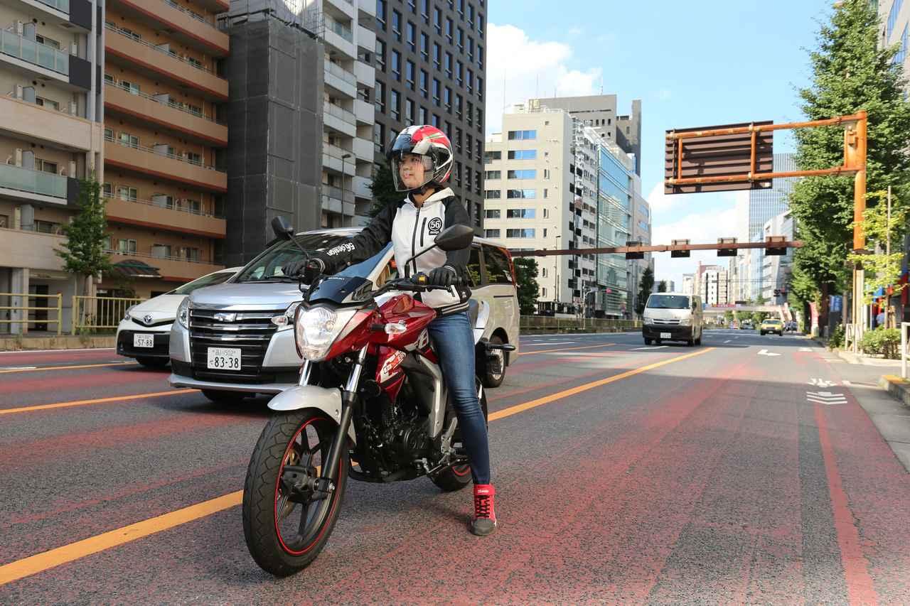 Images : 1番目の画像 - ほぼ月刊「梅本まどかとオートバイ」vol.20 SUZUKI GIXXER - webオートバイ