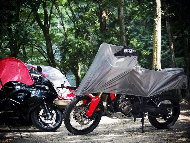 画像3: アウトドアグッズのようなハーフサイズのバイクカバー