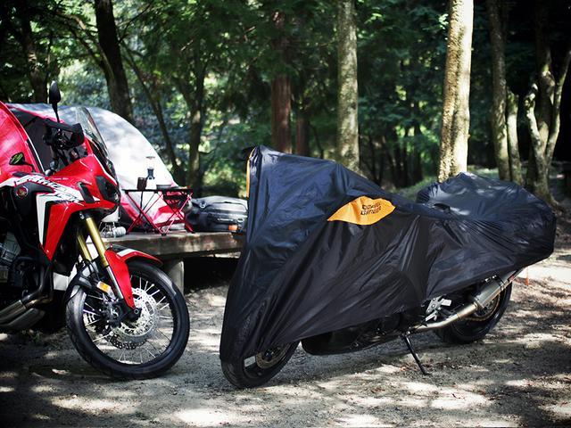 画像2: アウトドアグッズのようなハーフサイズのバイクカバー