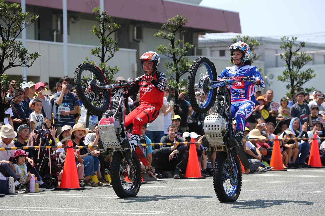 画像: 全日本トライアルのトップライダーが夢の共演。老若男女が楽しめるショーとしての完成度がすごいです。ぜひ生観戦してくださいね。