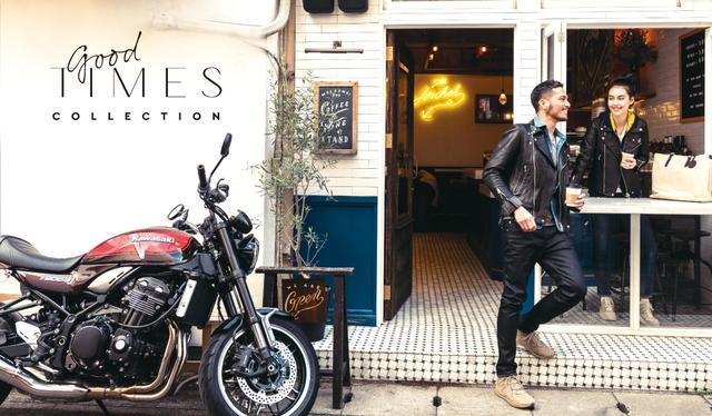 画像: アパレル・グッズは、「グッドタイムコレクション」として、バイク用品から普段使いできるものまで、ハイクオリティなアイテムを展開。カワサキプラザは、洋服や小物を探しにショッピングに訪れるのもおすすめです。