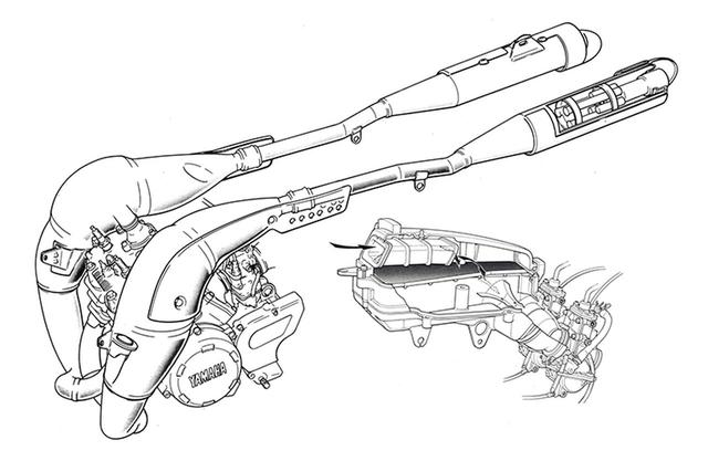 画像5: TZR250と同系の水冷並列2気筒をスチールフレームに積むオンオフ両用モデル