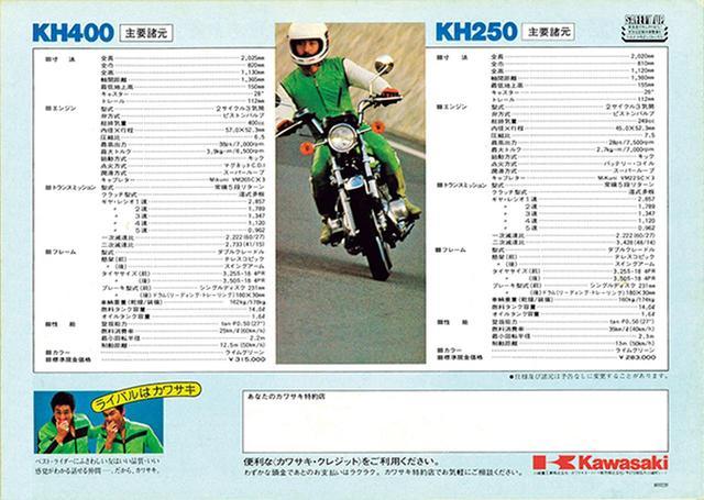 画像5: 【付録2】1980年型 KH250&KH400 カタログ