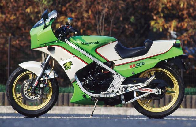 画像4: レーサーKR250の技術を受け継ぐ公道モデルとして誕生した250ccスポーツ