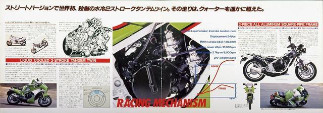 画像1: レーサーKR250の技術を受け継ぐ公道モデルとして誕生した250ccスポーツ