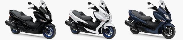 画像2: スズキ新型「バーグマン400 ABS」9月20日(金)発売開始! ホイールとシートステッチがブルーになった新色が登場