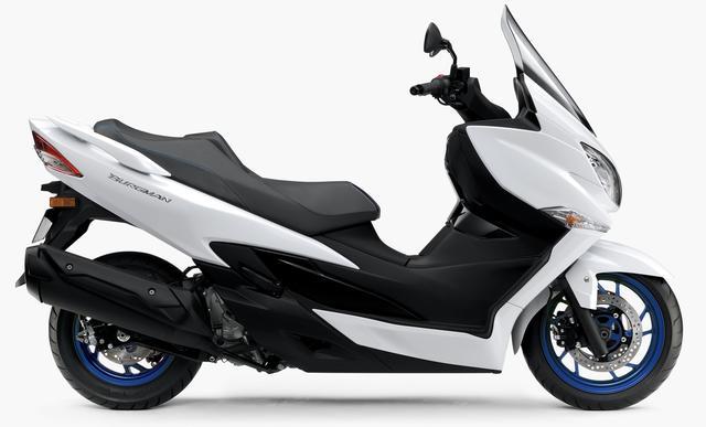 画像4: スズキ新型「バーグマン400 ABS」9月20日(金)発売開始! ホイールとシートステッチがブルーになった新色が登場