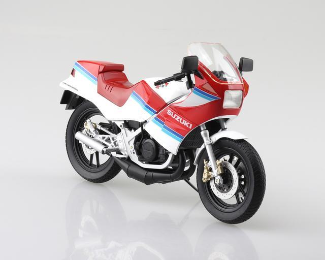 画像2: AOSHIMAの「ダイキャスト1/12 完成品バイク」シリーズにRG250Γ登場!