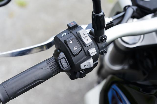 画像: モード選択や「USER」モードのセッティングなどの操作は左側のハンドルスイッチボックスから行う。
