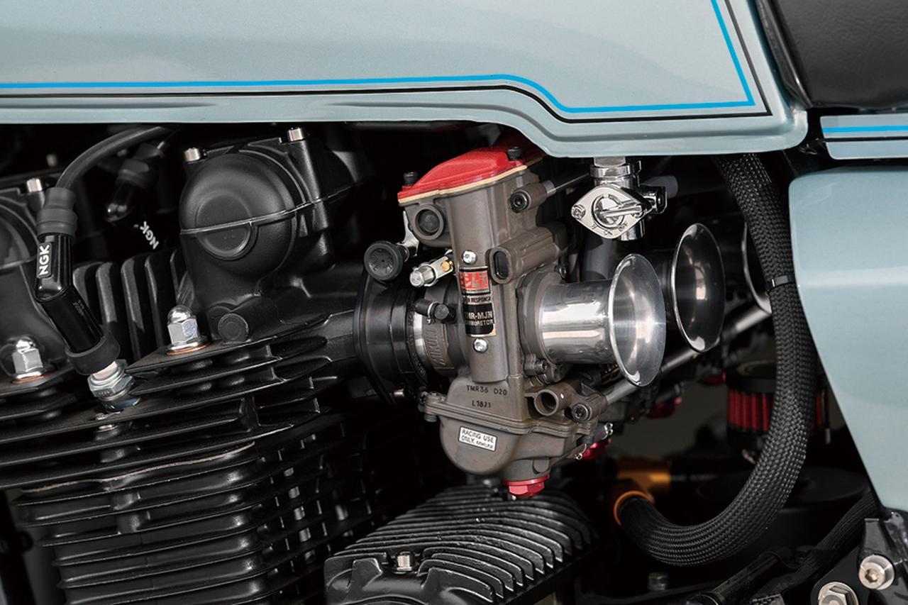 画像: キャブレターはTMR-MJNφ36mmで点火はウオタニSP2ユニット。本文のような軽い取り回しを生かすようにセットアップされる。