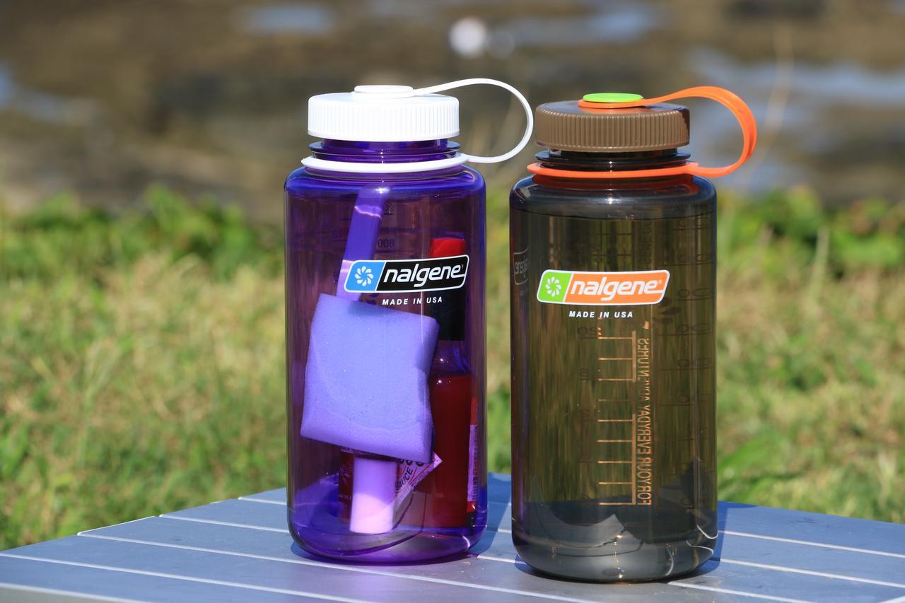 画像3: 「ナルゲンボトル」って知ってる? キャンプツーリングを楽しくする、タフで便利なプラスチックボトル【編集部員の夏休み④】