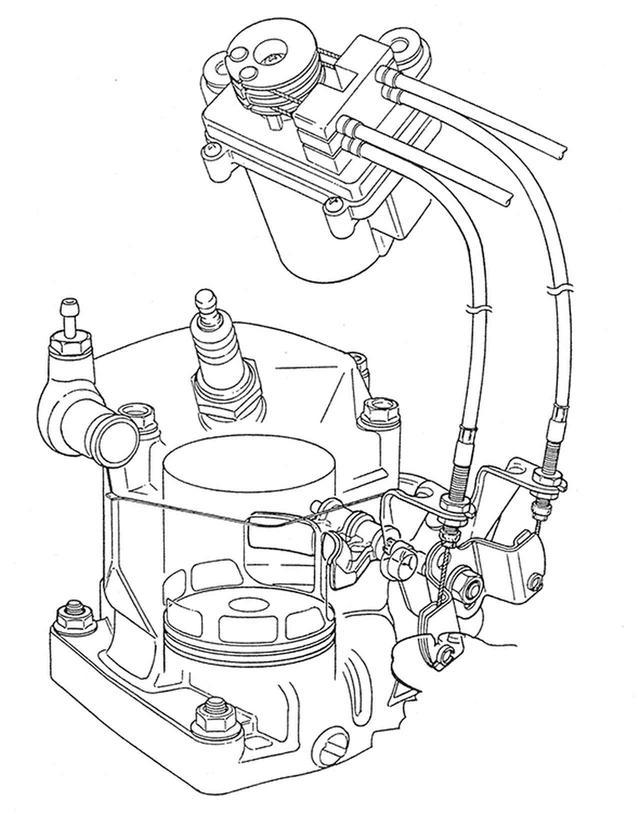 画像: RC(レボリューショナル・コントロールド)バルブを新たに採用。排気ポートにある可変バルブをサーボモーターで上下に移動させ、エンジン回転数の上下に応じてポートタイミングを最適化しようというものだ。ヤマハのYPVSやスズキのAETCと理論は同じで、可変排気ポート式排気ディバイスとして分類される。